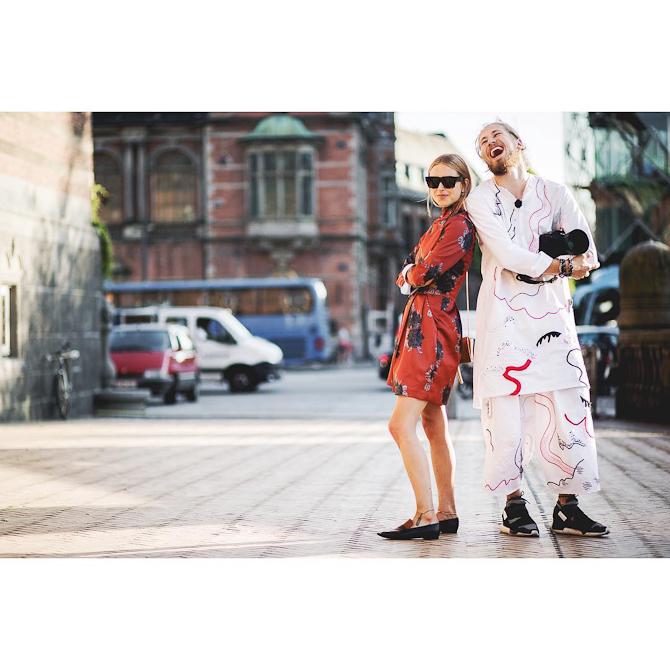 Sjovt ojeblik med Pernille i sommers under modeugen lige efter interview med TV2-2