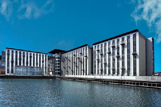 Durk ud til vandet - billedet er lånt fra Copenhagen Island Hotels www.