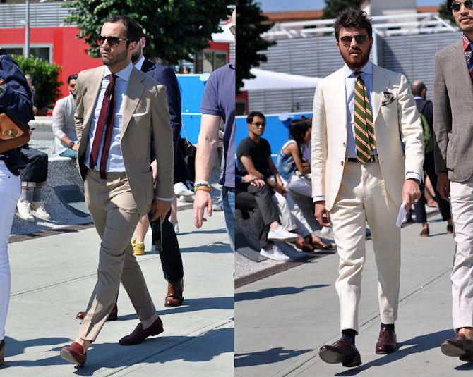 To mænd i sommerdress