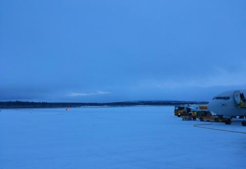 Vi er fremme - og klokken er ikke meget mere end 13. Velkommen til Kiruna!