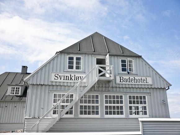 Badehotel efter den gamle skole. Svinkløv er navnet.