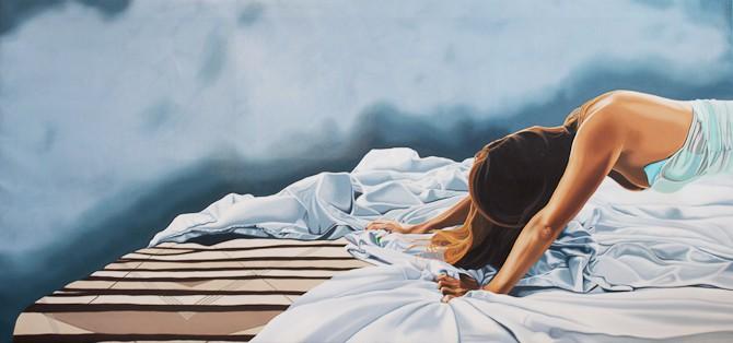 The Surrender, olie på lærred, 100 x 212 cm