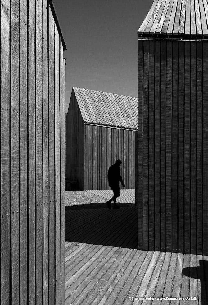 Bold architecture near Hammer havn on Bornholm Denmark