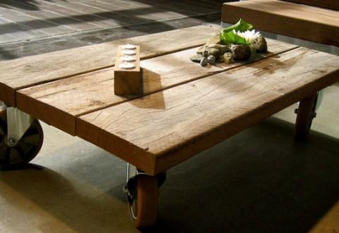Begejstringen vil ingen ende tage. Hjulene er en valgfri option, da bordene kan sammensættes efter kundernes ønsker.
