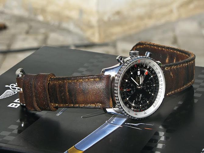 Breitling med nyt læder med gammelt look