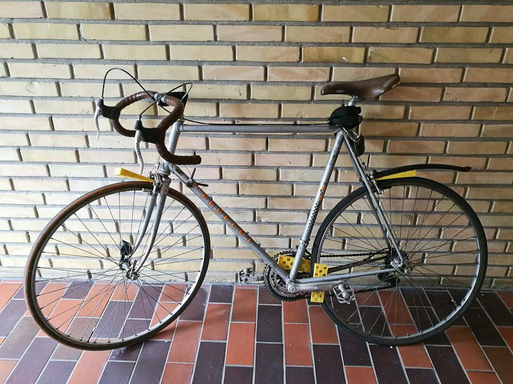 En cykel blev klodset op