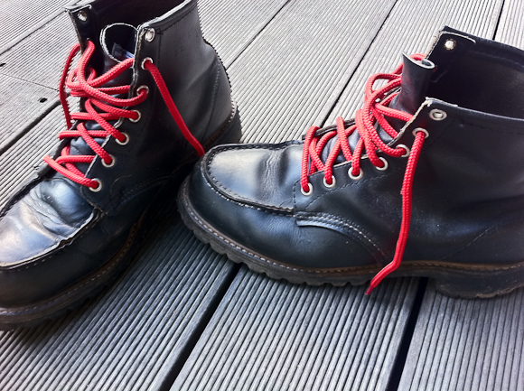 Efter et årti i skjul kom de gamle Red Wing støvler frem.