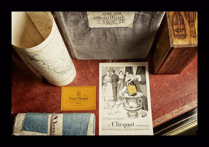 Gamle dokumenter fra Veuve Clicqouts arkiver