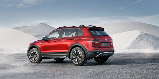 Omend dette er en konceptvogn, så kommer der en ny Tiguan til foråret - senere på året kommer der en variant med en tredje sæderække