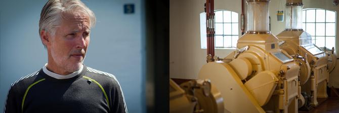 Møller Niels Jespersen er et smukt menneske, som personificerer møllen og dens visioner. Møllen beskæftiger syv mennesker i alt.