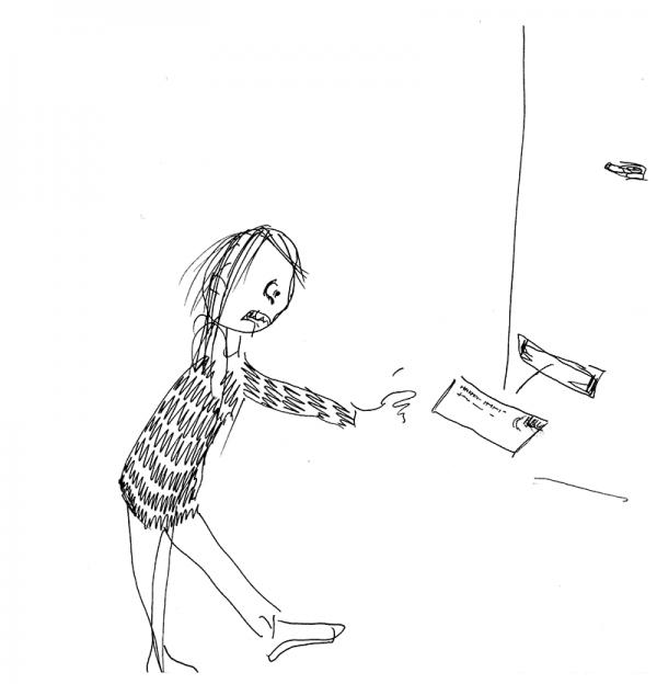 """Første afslag - også fra bogen """"En pige vokser op"""""""