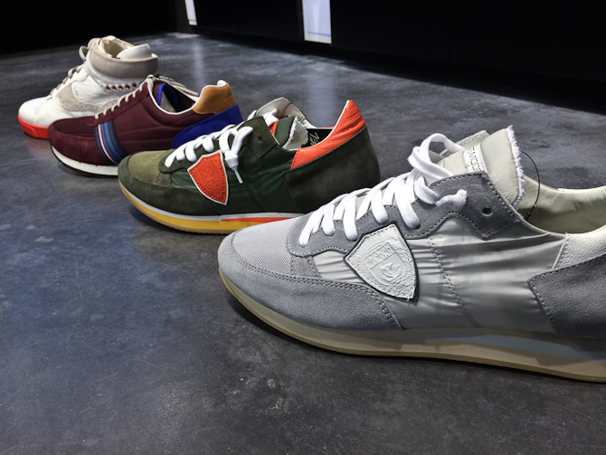 Nye sneakers fra (fra venstre) 2 x Paul Smith og 2 x Philippe Model