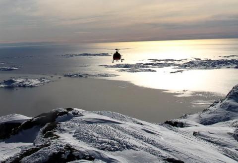 Så smukt kan det også være at stå på ski. Læs, hvor vi er, i dagens indlæg. Foto: Thomas Jensen