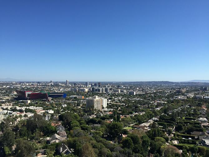 Jeg var på Soho House i weekenden til Frokost. Fantaaastisk udsigt over hele LA på en smuk klar dag.