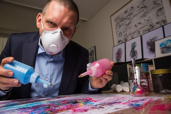 En forsker blev kunstner Foto: Jonrunar.com