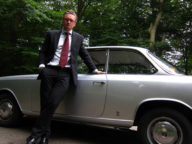 Claus med hans og kammeraten Mortens uhyre sjældne Fiat 1500 Vignale Coupé...