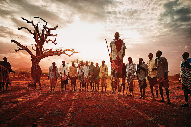 Solnedgang og højt-hoppende good guys Safari inspiration.