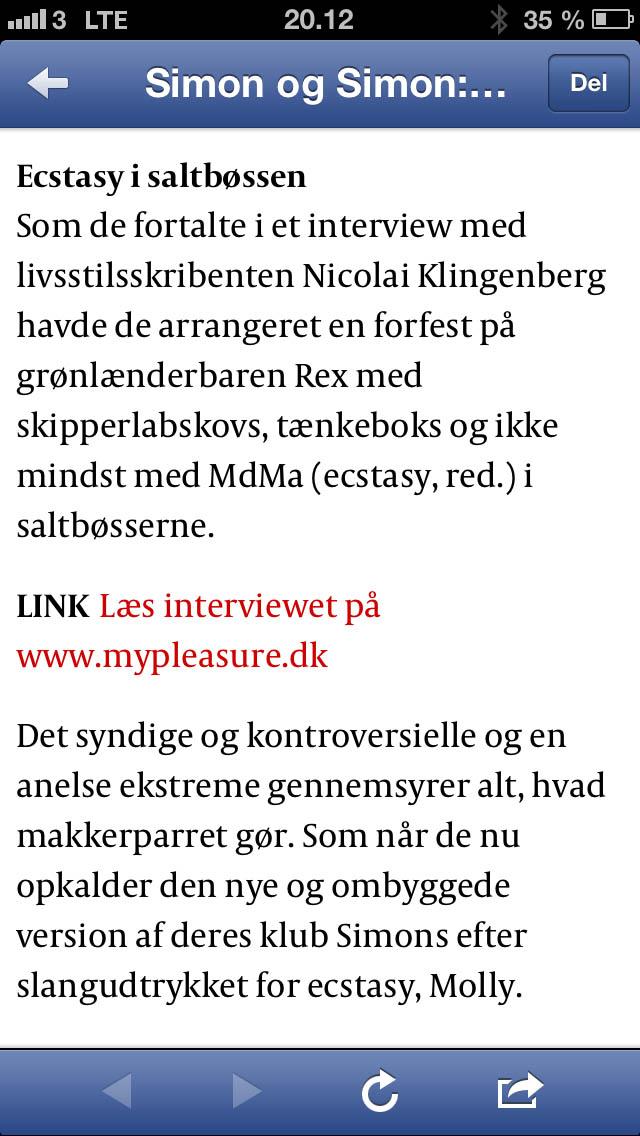 Martin Finnedal fra Politiken skrev om gutterne fra Simons - og kvitterede med venlig henvisning.