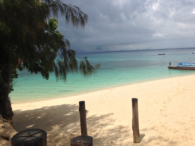 Prison Island. Lille ø ud for Zanzibars kyst.