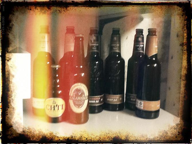 Hjemmebryg på gamle flasker
