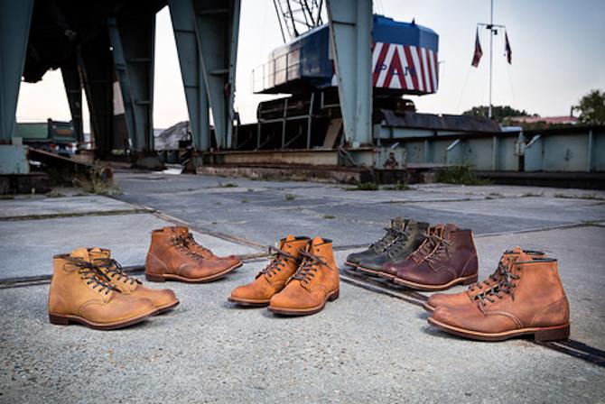 Vi begynder med en herlig omgang Blacksmith boots... Foto: http://redwingheritage.tumblr.com/