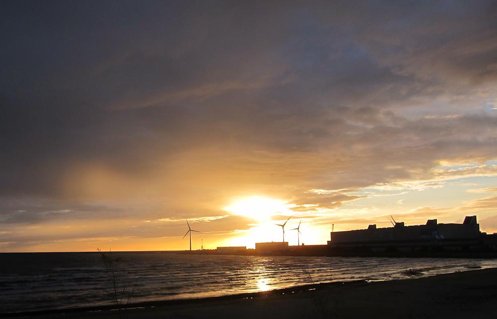 TIdlig solnedgang