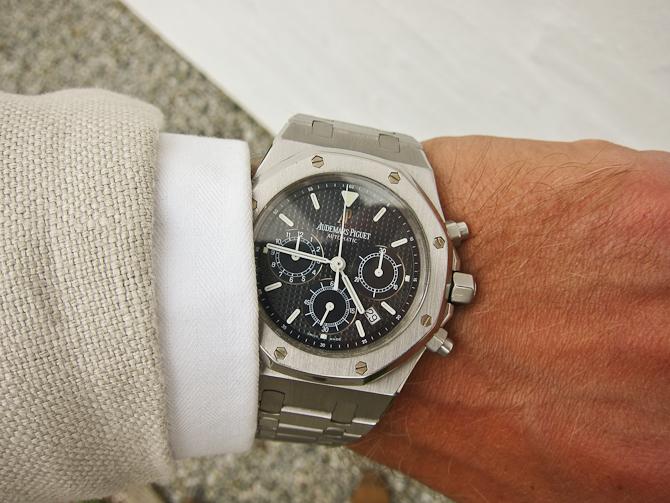 "Et ur forlod mig - og et andet kom til. Velkommen til et Audemars Piguet Royal Oak ""chrono""."