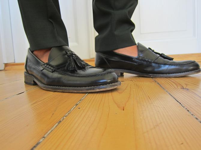 Loafers med kvaster og italienske strømper