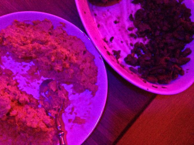 Babak bød på hjemmegjort shawarma