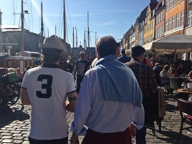 Vi spadserede i Nyhavn