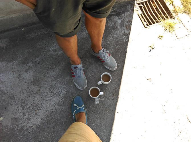 Nils og jeg drak kaffe
