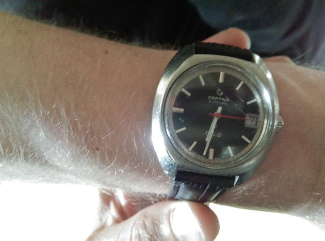 Anders havde fået nyt, gammelt ur