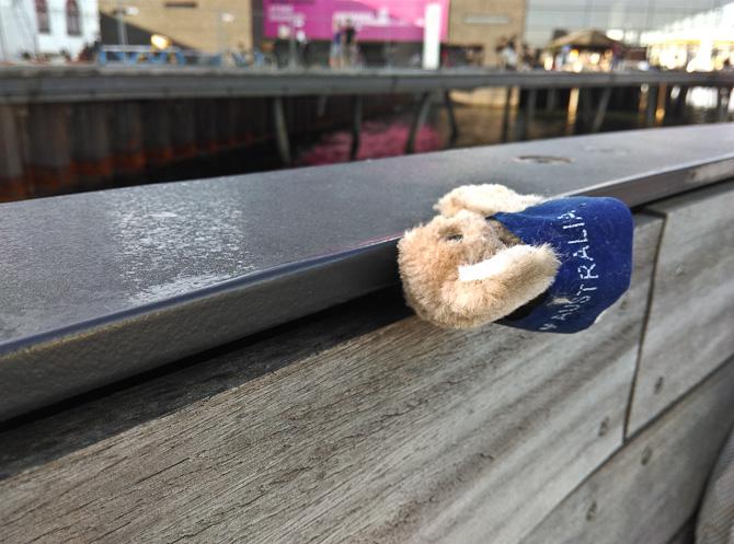 Nogen havde tabt en souvenir fra Australien