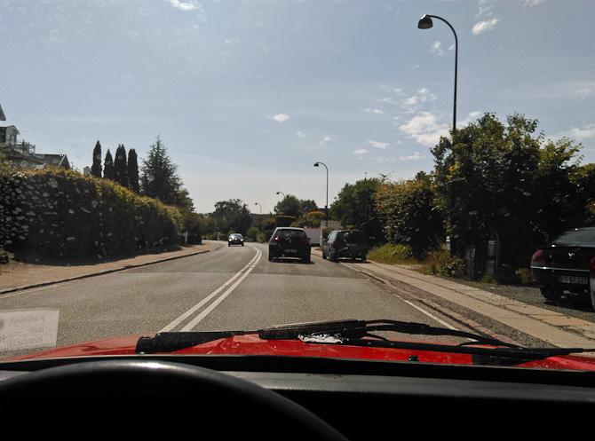 Jeg kørte hjem via Strandvejen
