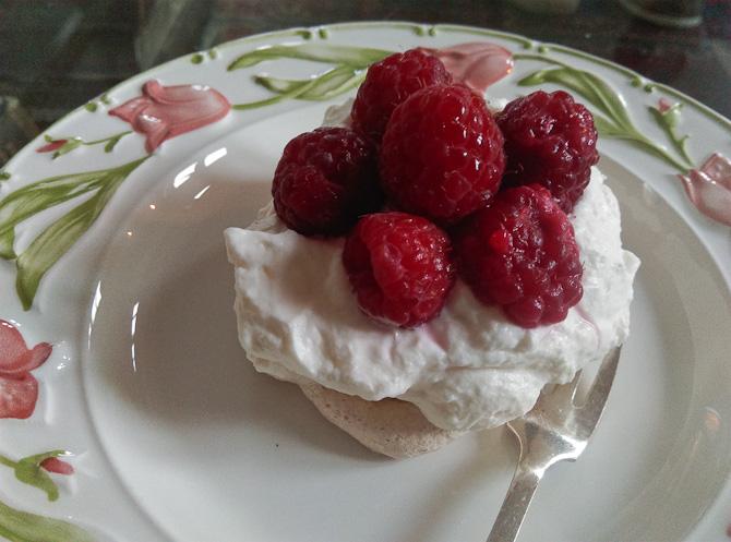 Dessert hos Familien Bille