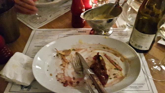 Vi spiste næsten op