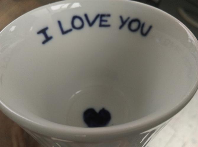 Jeg blev begavet med en svært fin kop