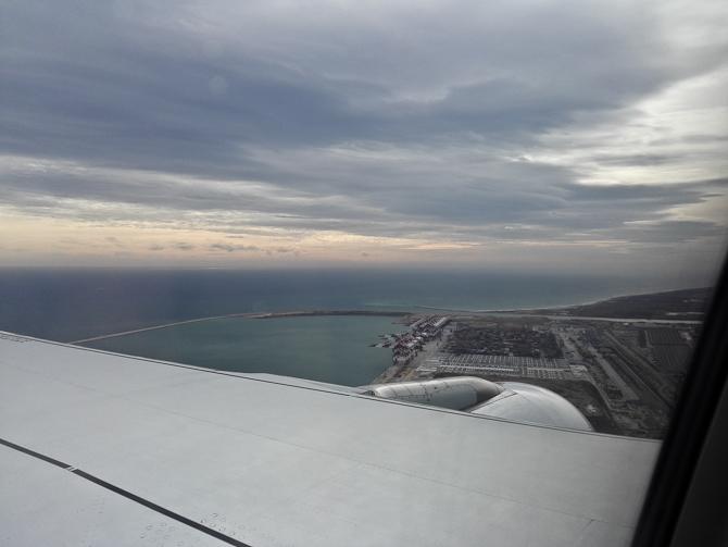 Vi fløj ind mod Spanien