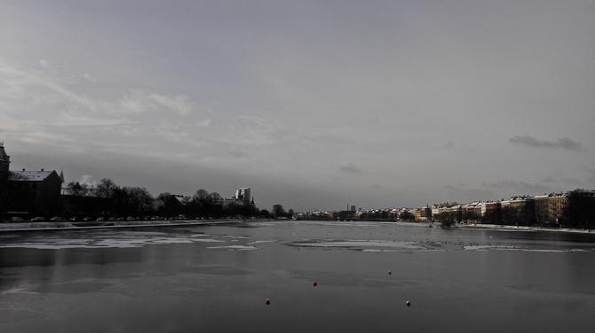 Sø med is