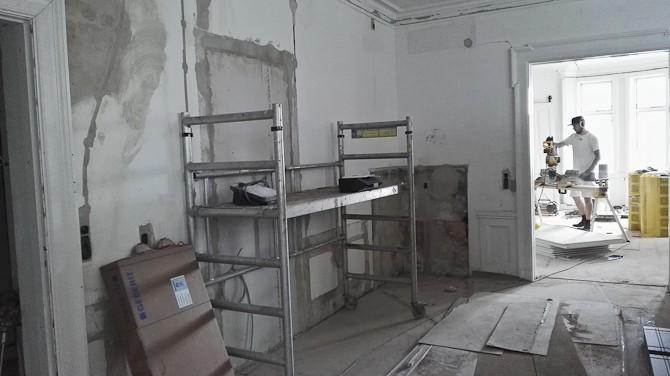 Om under en måned vil dette rum danne rammen om et åbnet hjem