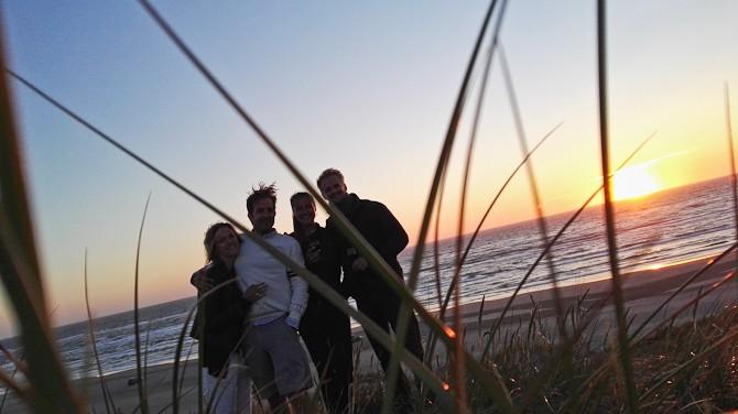 Vi snuppede en sidste solnedgang