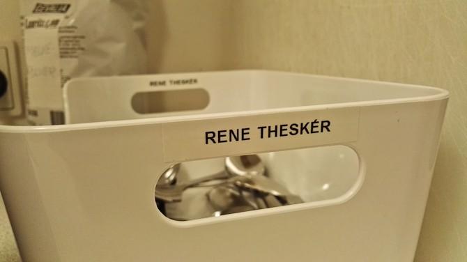 En ny kollega kom til - han hedder Rene Theskér