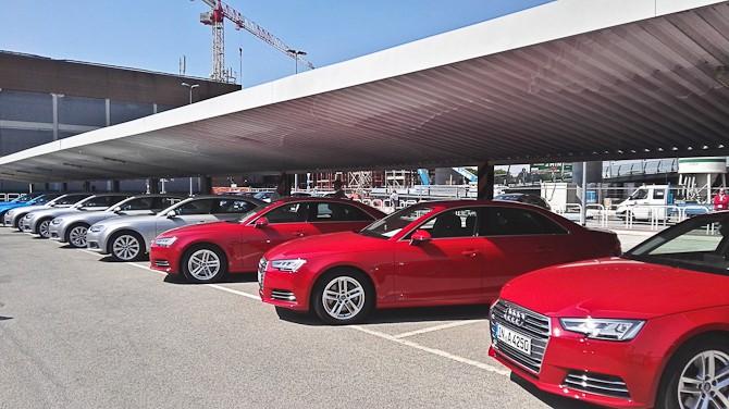 Anledningen: Den nye Audi A4