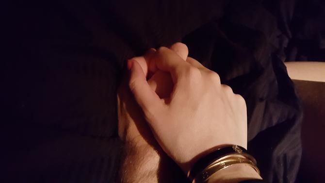 Vi holdt i hånd