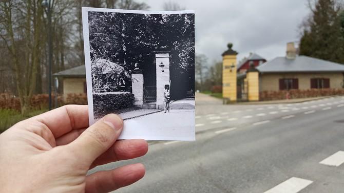 Før & nu skud i Charlottenlund