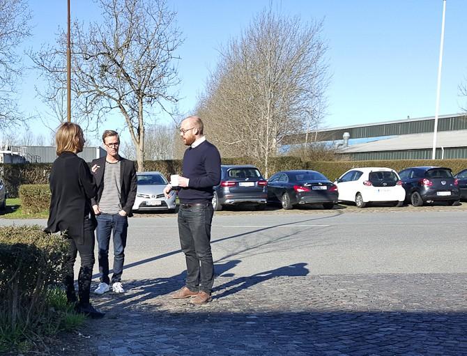 Niels, Mikkel og Johs søgte sol