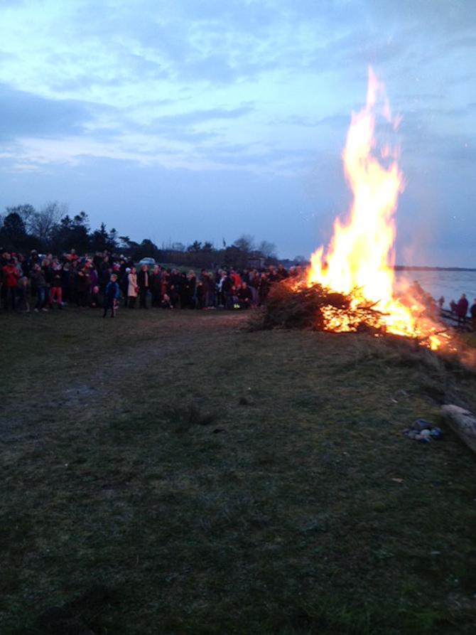 Der var ild på stranden i Sverige