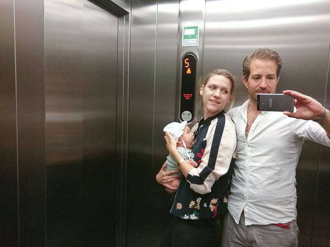 Elevatorskud. Nu med solhat.