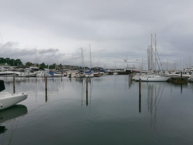 Vi besøgte en havn