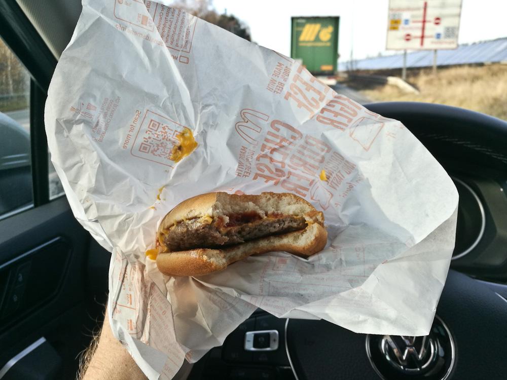 En køreburger